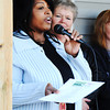 Globe/T. Rob Brown<br /> Norma Taylor thanks Joplin Area Habitat for Humanity, the Governor's Joplin Challenge, the Kansas City Chiefs and all the volunteers in front of her home Tuesday afternoon, Nov. 13, 2013, in the 2600 block of Kentucky Avenue. The five families include: Taylor, Wayne and Jamie Crandell, Amy Stockton, Linda Hazley and Laurence and Marchella Claar.