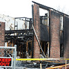 Globe/T. Rob Brown<br /> A view from the back side of part of the remains of the Blue Ridge Apartments in Wheaton on Monday afternoonn, Nov. 26, 2012.
