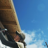 Globe/Roger Nomer<br /> April Foulks, a deputy juvenile officer, nails down siding during a recent work day at 2630 Wall.