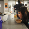 Globe/Roger Nomer<br /> Sami Valdez has a snack before bed at CHOICES Emergency Shelter in Pittsburg on Thursday, Nov. 15, 2012.