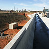 Globe/Roger Nomer<br /> Construction continues on the Highway 72 South bridge in Bella Vista on Wednesday.