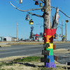 Globe/Roger Nomer<br /> A tree decorated with over 20 birdhouses and birdfeeders invites people to help feed the birds.  The tree is located just east of 20th and Indiana, where the lack of trees has impacted wildlife in Joplin.