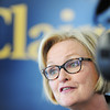 Globe/T. Rob Brown<br /> Sen. Claire McCaskill speaks during a campaign stopover Thursday afternoon, Nov. 1, 2012, in downtown Joplin.