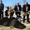 Globe/T. Rob Brown<br /> Representatives for The Arc of the Ozarks and the city of Joplin hold a groundbreaking ceremony for a 2,680 square-foot duplex for persons with disabilities supported by The Arc Tuesday morning, Nov. 27, 2012, at 3128 S. Oliver Ave., Joplin. The Arc's offices and a home were destroyed by the May 2011 tornado. The cost is $260,000 with $25,000 from the city's Tornado First Response Fund, $100,000 from the Community Foundation of the Ozarks, Southwest Region, and the rest from private donations.