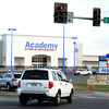 Globe/T. Rob Brown<br /> Motorists turn off South Range Line Road at 17th Street, toward the rebuilt Academy Sports & Outdoors business Tuesday afternoon, Nov. 6, 2012, in Joplin.