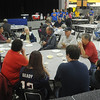 Globe/Roger Nomer<br /> Diamond community members attend a breakfast at Diamond High School on Thursday morning.  Diamond High School students from the National Honor Society and Student Council held the breakfast to show their appreciation for the community's support.