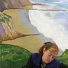 Globe/Roger Nomer<br /> Samantha Fay, Joplin, finds a serene spot to vote at the Joplin Senior Center on Tuesday afternoon.