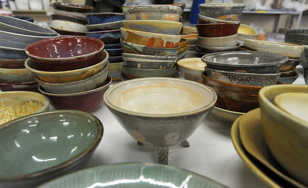 Globe/Roger Nomer<br /> Empty bowls at Phoenix Fired Art