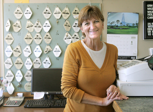 Globe/Roger Nomer<br /> Rita Moore is the clubhouse manager at Schifferdecker Golf Course.