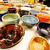 A plethora of Empty Bowls awaits lunch patrons Thursday afternoon, Nov. 21, 2013, during the charity event at Phoenix Fired Art on South Main Street, Joplin.<br /> Globe | T. Rob Brown