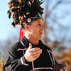 Wyandotte Chief Billy Friend performs the tribe's smoke ceremony with a pipe Monday morning, Nov. 18, 2013, outside the new Sonic location in Seneca.<br /> Globe | T. Rob Brown