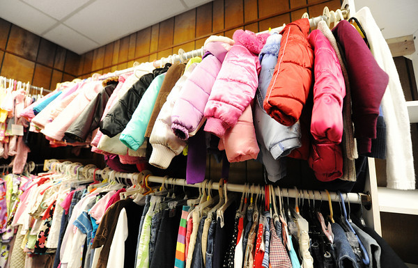 Coats for children at the Carthage Crisis Center Monday, Nov. 11, 2014.<br /> Globe | T. Rob Brown