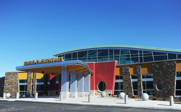 Globe/Roger Nomer<br /> The new Irving Elementary is set to host a tour for school families for a preview of the school.