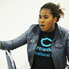 International student Esther Aidelomon of Nigeria discusses the options as they select a new club president during a meeting of the International Student Club Friday afternoon, Nov. 15, 2013, at Crowder College in Neosho.<br /> Globe | T. Rob Brown