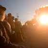 Globe/Roger Nomer<br /> Dale Long, Sarcoxie, watches the parade on Main Street in La Russell on Thursday.