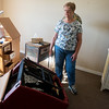 Globe/Roger Nomer<br /> Linda Hopper looks around her apartment on Tuesday at Mercy Village. Hopper's apartment has been taken apart and treated for bedbugs.