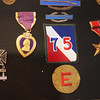 Globe/Roger Nomer<br /> Vance Meares' war medals, including his Purple Heart, are on display in his home.