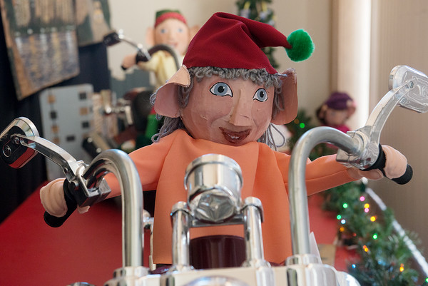 Globe/Roger Nomer<br /> Motorcycle elves will be on display at Joplin City Hall.