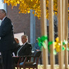 Globe/Roger Nomer<br /> With shovels at the ready, Gov. Jay Nixon talks on Tuesday during the groundbreaking for Nixon Hall at Missouri Southern.