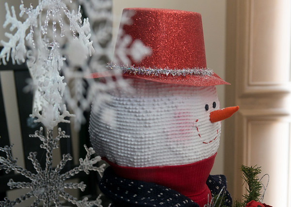 Globe/Roger Nomer<br /> The theme of this year's City Hall holiday windows is snowmen.