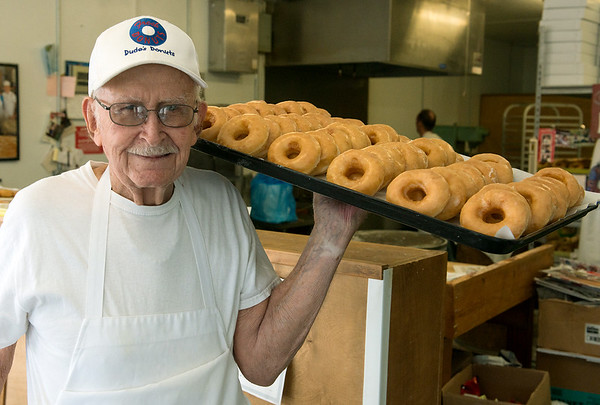Globe/Roger Nomer<br /> Dude Pendergraft is the long-time owner of Dude's Daylight Donuts in Joplin.