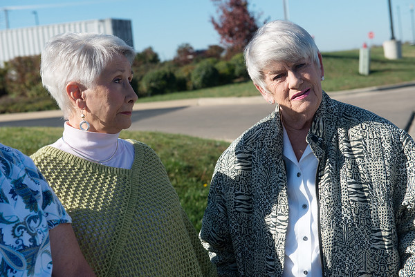 Globe/Roger Nomer<br /> Regina Bullen, left, and Jane Bryson talk about their difficulties with bedbugs at Mercy Village on Tuesday.