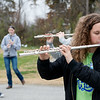 Globe/Roger Nomer<br /> Madsyn Gipson, Riverton sophomore, practices with the Riverton High marching band on Friday at the school.