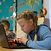 Globe/Roger Nomer<br /> Laekyn Smotherman, a third grader at Mark Twain Elementary in Webb City, works on a blog during class on Tuesday.