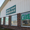 Globe/Roger Nomer<br /> Windows at Joyce Towe Insurance are decorated in support of Mt. Vernon High School on Thursday.