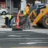 Globe/Roger Nomer<br /> Street construction continues at 20th and Main on Monday.