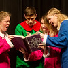 "Globe/Roger Nomer<br /> (from left) Katie Roush, Joplin High junior, as Birdy, Silar Reynolds, sophomore, as Randy, Lydia Sokolenko, junior, as Twinkle, and Maggie Smith, sophomore, as Snickers, perform a scene during a rehearsal of ""Crazy Cocoa Christmas"" at Joplin High School on Thursday."