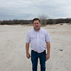 Globe/Roger Nomer<br /> Spencer Aggus talks about the land around the former Atlas Powder plant on Tuesday.