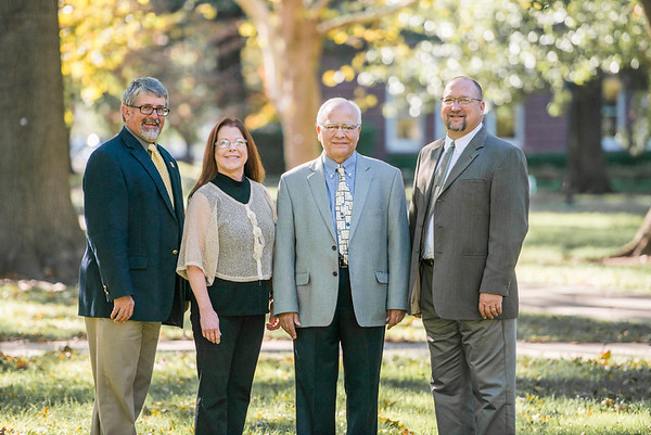 From the left: Pittsburg State University's Mark Johnson,  Julie Allison, Khamis Siam and Craig Fuchs will be honored Tuesday with the designation of University Professor at a special reception at PSU.<br /> Courtesy Photo