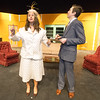 "Joplin High School thespians Jessica Stout (Mrs. Osgood) and Jakob Butler (Mr. Dunlap) rehearse their roles in the 1940s era farce, ""Suite Surrender"" on Friday at the JHS Performing Arts Center.<br /> Globe 
