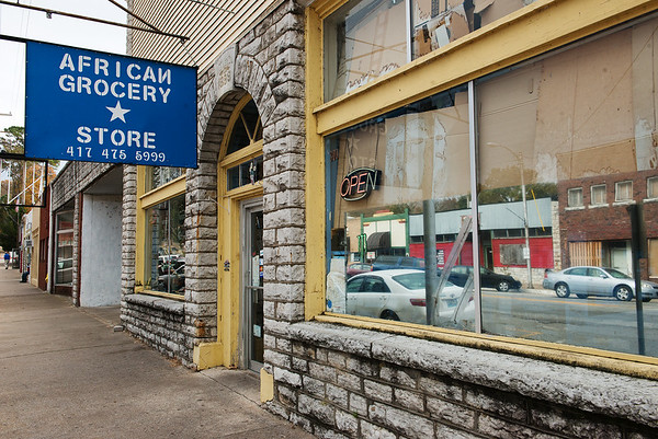 Globe/Roger Nomer<br /> The African Grocery Store in Noel is a gathering place for many in the Somali community.