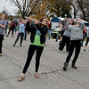 Globe/Roger Nomer<br /> The Riverton High marching band practices at the school on Friday.