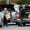 Investigators with the Missouri Hghway Patrol gather evidence at the scene of an officer-involved shooting early Friday afternoon at the Springhill Apartments near 21st and McCoy streets.<br /> Globe   Laurie Sisk