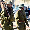 Reenactors join the 31st Annual Veteran's Day Parade on Saturday morning in downtown Joplin.<br /> Globe | Laurie Sisk