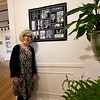 "Alice Lynn Greenwood-Mathé, executive director and curator of artCentral at the Hyde House in Carthage, stands beside a quilt piece entitled ""Winter Forest,"" by Wyandotte artist Andrea Luliak. The piece is one of 20 from 11 artists on display at the Hyde House. The exhibition, entitled ""The Art of Quilting,"" concludes today from 1 to 5 p.m.<br /> Globe 