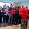 Shari Dugan, manager of Behavorial Health at Mercy Hospital Joplin, cuts the ribbon for the new Mercy Hospital Joplin Behavorial Health Unit on Tuesday.<br /> Globe | Roger Nomer