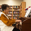 Savella Evans plays piano at the Joplin Senior Center on Monday.<br /> Globe | Roger Nomer