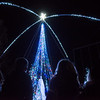 The Christmas tree in Spiva park is lit on Tuesday evening.<br /> Globe | Roger Nomer