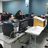 Instructor Mary Rogers answers students' questions during an English Composition class on Tuesday morning at Crowder College - Cassville.<br /> Globe | Laurie Sisk