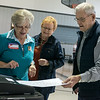 Sharon Patton, left, helps Lila Paugh and Charlie Slates with the ballot machine on Tuesday at the Church of the Nazarene in Carthage on Tuesday.<br /> Globe | Roger Nomer