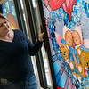Stephanie Baker views her Window of Inspiration dedicated to her daughters on Saturday at Freeman Hospital.<br /> Globe | Roger Nomer