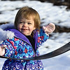 Cold temperatures don't stop 2-year-old Chloe Kuhns fron enjoying a day at the park on Wednesday at Parr Hill Park.<br /> Globe | Laurie Sisk