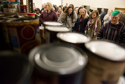 Missouri Southern students tour the Lion Co-Op food pantry on Tuesday morning. Globe | Roger Nomer