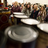 Missouri Southern students tour the Lion Co-Op food pantry on Tuesday morning.<br /> Globe | Roger Nomer