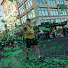 Runners start the Turkey Trot 5K in a shower of confetti on Thursday in downtown Joplin.<br /> Globe | Roger Nomer