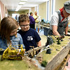 From the left{ Grace Coate, 8, Judah Coate, 7 and Buddy Yockey check out Fred Miller's Marksberry Guano Mine display during the Joplin Museum Complex's Model Railroad Show and Swap Meet on Saturday at the museum.<br /> Globe | Laurie Sisk